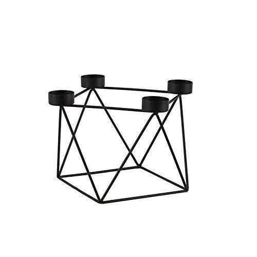 KMYX Europäische einfache geometrische Linien Kerzenhalter polygonale prismatische Kerzenständer romantische Kerzenlicht Abendessen Requisiten kreative Kerze Dekorationen Laternen studieren Ornamente ( Größe : Style B ) (Europäische Krippe)