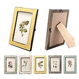 Milopon Bilderrahmen Fotorahmen Holz Vintage Foto DIY Kreativ Bilder Rahmen Bildformat (Gelb)