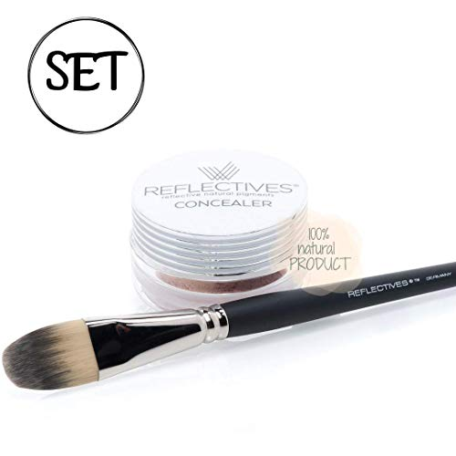 CONCEALER Mineral Make-up SET/ 1 Abdeckpuder und 1 Concealer PINSEL im Set/neutral-hell, gelb.-hell, gelb.-leicht gebräunt, rötl.-hell, rötl.-leicht gebräunt/ 4 g (bitte geben Sie Ihre Farbe mit an) -