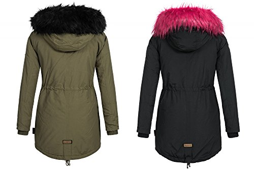 Winterjacke damen buntes fell