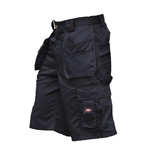 Lee Cooper - Pantaloni Corti Multi-tasche da lavoro - Uomo (Girovita 96cm) (Nero)