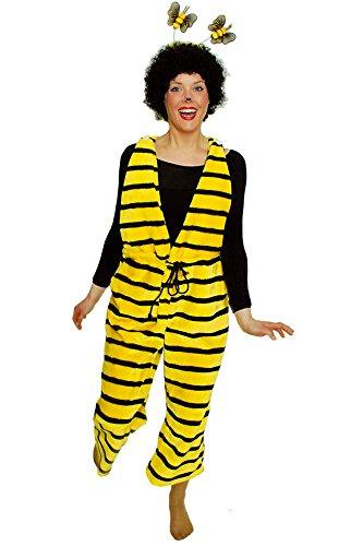 Bienenkostüm gelb-schwarz für Mädchen | Größe 116-128 | 1-teiliges Tierkostüm | Hummel Faschingskostüm für Kinder | Bienchen Kostüm für...