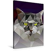 Premium Textil-Leinwand 50 cm x 75 cm hoch, Katze | Wandbild, Bild auf Keilrahmen, Fertigbild auf echter Leinwand, Leinwanddruck (CALVENDO Tiere)
