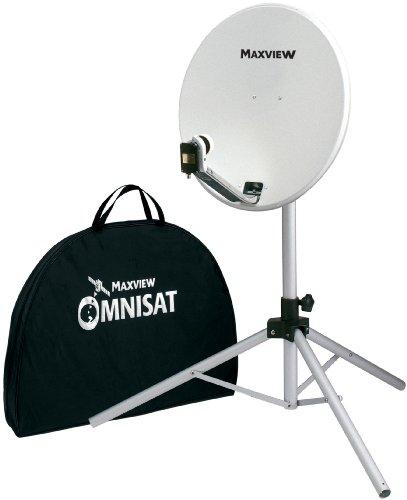 Maxview - Antena parabólica portátil con trípode y bolsa de transporte blanco blanco Talla:66 cm