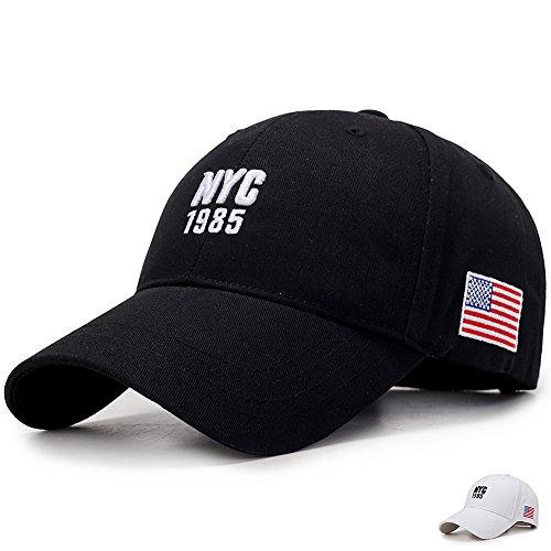 Yooeen Classical NYC Baseball Cap Herren Damen Verstellbar Amerikanische Flagge Basecap Baseballmütze NYC Mütze Kappe Caps mit Gute Qualität Stickerei