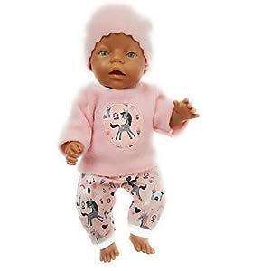 Puppenkleidung in Handarbeit gefertigt Einhorn 43 cm passend für zb Baby Born Bekleidung Kleidung Set 30