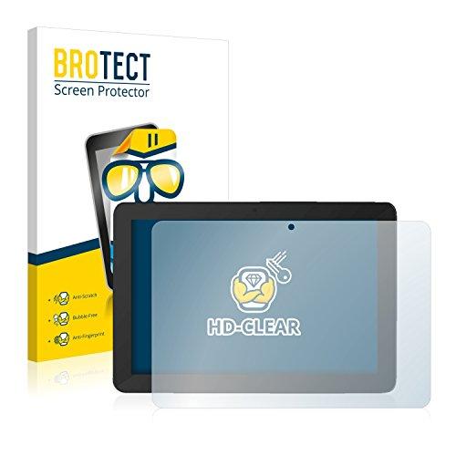 BROTECT Schutzfolie kompatibel mit TrekStor SurfTab Breeze 10.1 Quad Plus [2er Pack] klare Bildschirmschutz-Folie