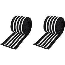 Venda para rodilla, 200 cm, ideal para deportes de fuerza, levantamiento de pesas, culturismo, varios colores, de la marca C.P.Sports, sw-weiß