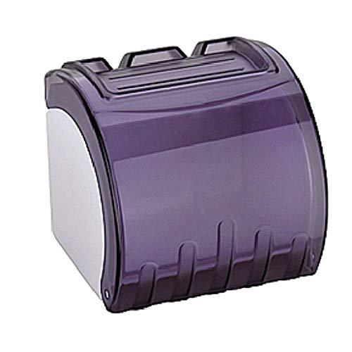 QXJR Bad Tissue Box,WC Papierhalter,Toilettenpapierhalter Einfache Installation Freistehend Wasserdicht Kunststoff Badezimmer-Lila