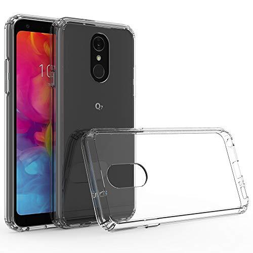 Ferilinso LG Q7/LG Q7 Plus/LG Q7α Hülle, Luft Hybrid Kristall klar Fall TPU Bumper with Rigid PC Back Cover zum LG Q7/LG Q7 Plus/LG Q7α (Transparent)