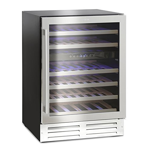 411U%2BrYDKmL. SS500  - Montpellier WS46SDX Dual Zone 46 bottle Wine Cooler in Stainless Steel