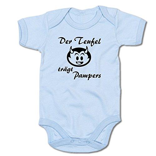 G-graphics Der Teufel trägt Pampers Baby-Body (250.0039) (6-12 Monate, blau)