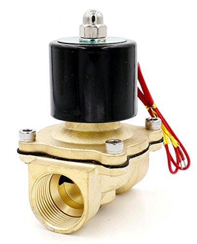 Woljay Magnetventil 1 Zoll AC 220V Wasser Luft Gas (Normal Geschlossen) Ersatz Messing Ventil -