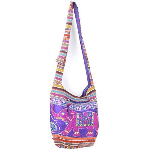 Caravan Embroidered canvas sling bag
