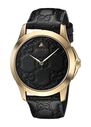 Gucci Unisex-Adult Analogue Classic Quartz Watch with Leather Strap YA1264034