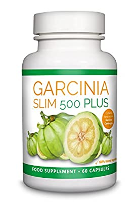 Garcinia Slim 500 Plus - HIGH STRENGTH Garcinia Cambogia Weight Loss Tablets - UK Manufactured Pure Fat Burning Pills - High Quality Dietary Supplement - Appetite Suppressant Natural Diet Formula by Garcinia Slim 500 Plus