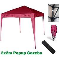 2x2m gazebo jardín tienda pop-up resistente al agua (rosso)