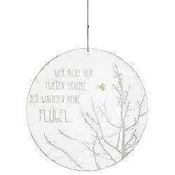 Räder - ZUHAUSE - Glaspoesie - Baum und Biene - gefrostetes Glas Ø 24cm