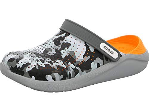 Crocs Unisex LiteRide Graphic Slip-On Clog Charcoal/Camo -