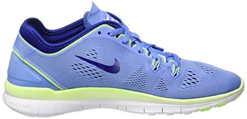 Nike Wmns Free 5.0 TR Fit 5, Chaussures de Fitness Femme, Bleu, UK Blau (Grau/Silber)