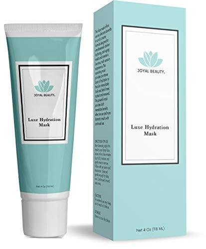 Bio Luxe Feuchtigkeitsspendende Gesichtsmaske mit Hyaluronsäure. Beste feuchtigkeitsspendende straffende kühlende, reinigende Spa-Behandlung für trockene, matte Haut. 118 ml -