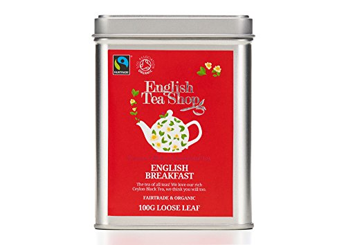 English Tea Shop Organic Fairtrade English Breakfast - 100g Loose leaf tea in a Tin