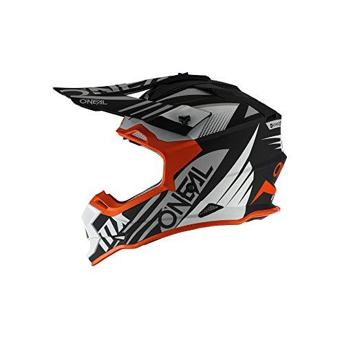 O'Neal 2 Series Spyde 2.0 Motocross Enduro MTB Helm schwarz/weiß/orange 2020 Oneal: Größe: L (59-60cm)