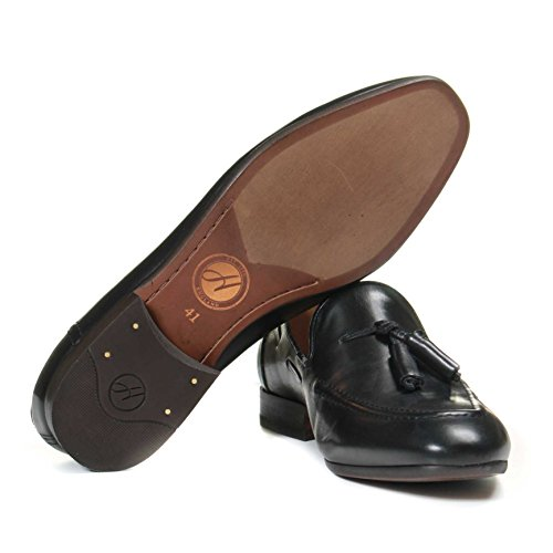 London Hudson F406205 Pierre Slipper Schwarz Herren zdpEdwrn7