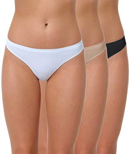 Yenita® Tanga Sin Costuras Microfibra Mujer, Pack