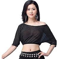 YiiJee Mujer Danza del Vientre Oriental Costume Belly Dance Tops Ropa del Danza