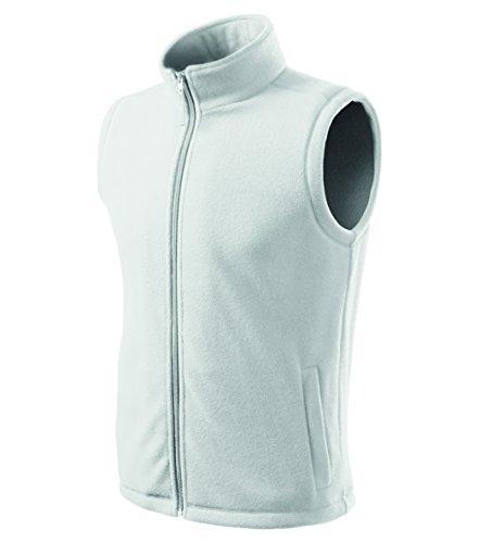OwnDesigner by Adler Herren Fleeceweste Outdoor Pullover Fleece (Weiß, M)