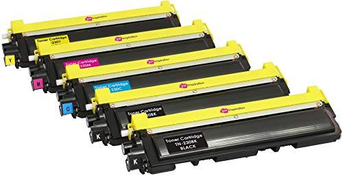 5er Set Premium Toner kompatibel für Brother TN230 DCP-9010CN HL-3040CN HL-3045CN HL-3070CW HL-3075CW MFC-9120CN MFC-9125CN MFC-9320CW MFC-9325CW | Schwarz 2.200 Seiten & Color je 1.400 Seiten - Mfc9320cw Drucker Brother