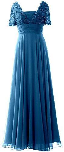 MACloth - Robe - Trapèze - Manches Courtes - Femme bleu sarcelle
