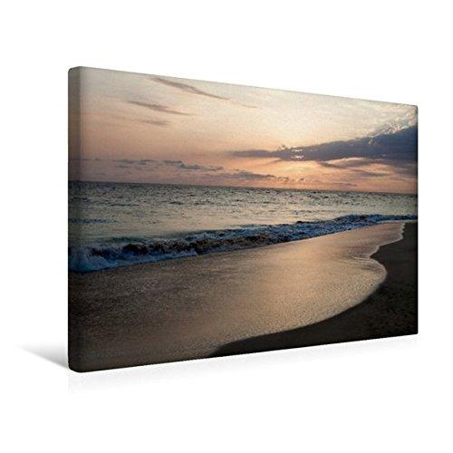 Preisvergleich Produktbild Premium Textil-Leinwand 45 cm x 30 cm quer, Sonnenuntergang auf den Kapverden | Wandbild, Bild auf Keilrahmen, Fertigbild auf echter Leinwand, Leinwanddruck (CALVENDO Natur)