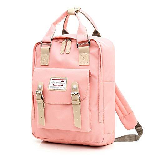 Lässige Schultertasche, wasserdichte Oxford Bag Bag, Große Multifunktions-Rucksack, Geeignet Für Die Meisten 17-Zoll /43cm Laptops 37cm x 10cm x 28cm rosa -