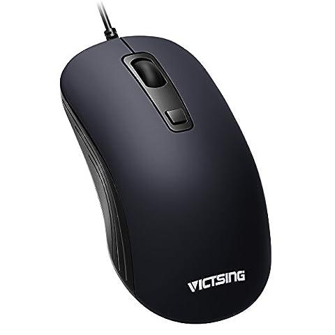 VicTsing 3-Tasten USB Wired Office Mouse, beidhändig Maus mit 3