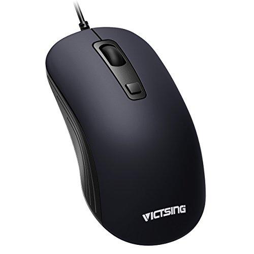 VicTsing 20171214, Ratón USB 3 Botones con 3 Niveles de DPI Adjustables (1000/1600/2000), Perfecto para Portátil, Computadora y Ordenador, Azul Real