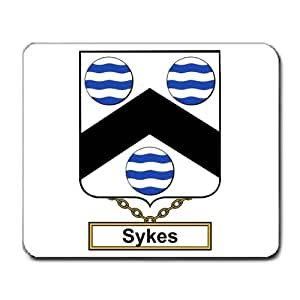Sykes Family Crest Coat of Arms Mouse Pad
