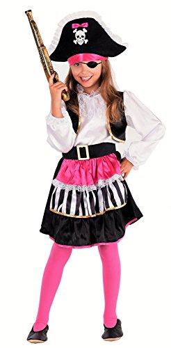 Magicoo Lady Piratin Piratenkostüm Kinder Mädchen Pirat-Kostüm Piratin -