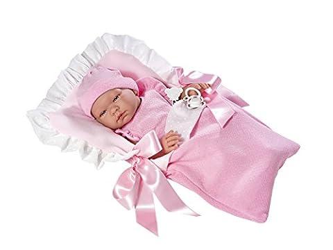 Baby Doll - Maria body rosa en nana plumeti beige - ASI Doll