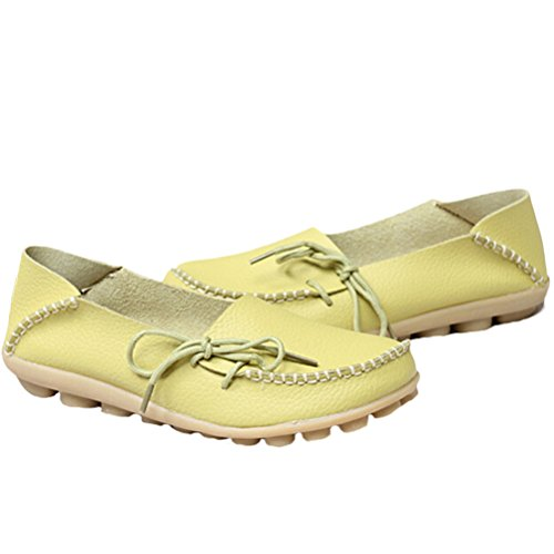 Vogstyle Moccasin Femme Casual Plat Tout-match Chaussures 33-43 Style-1 Vert Pomme