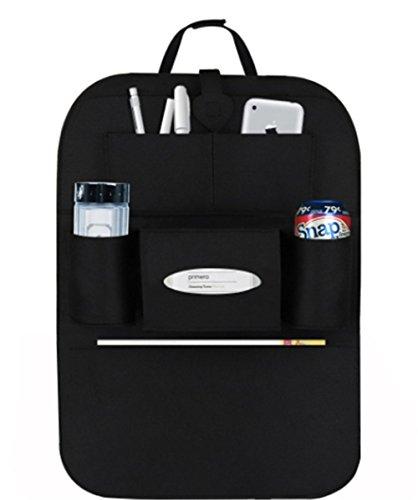 Preisvergleich Produktbild Back Seat Car Organizer, Silence Shopping Multi-Pocket Travel Lagerung Auto Sitz Rücken Tasche (Schwarz)