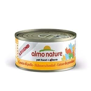 Almo Nature - Produit Naturel - Boite Legend chat VIANDE 70g - Almo Nature (Cuisse de poulet 6 x 70g)