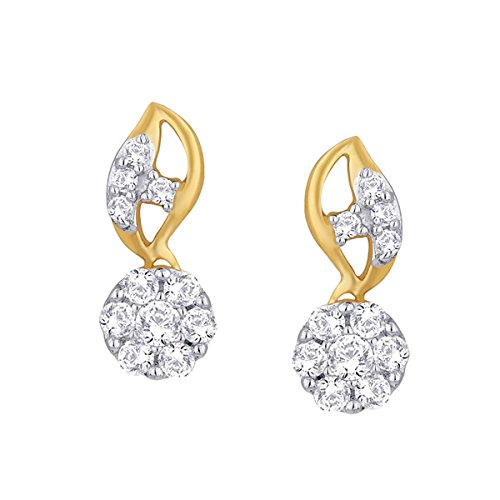 Giantti 14 carats Diamant pour femme Dangler Boucles d'oreilles (0.5796 CT, VS/Si-clarity, Gh-colour)