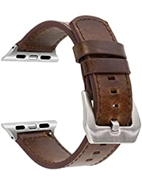 Correa de Reloj de Cuero SUNKONG Breve Banda de Pulsera de Estilo para 42mm Apple Watch Series 1 Series 2