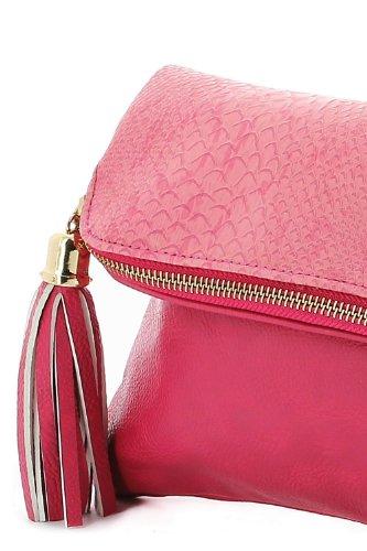 PYTHON goldfarbenen Tasche Case Rosa - Koralle