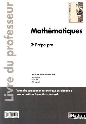 Mathématiques 3e Prépa-pro