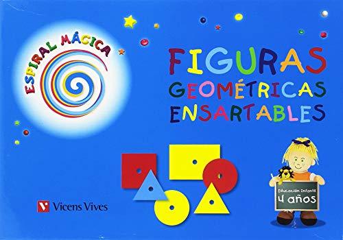 Caja Figuras Geométricas Ensartables. 4 Años (Espiral Magica Material Rincones) - 9788431696832