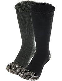 EOZY Lot 2pcs Chaussette Basse Socquette Sock Unisexe Épais Laine Mélange