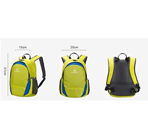 HWLXBB Outdoor Bergsteigen Tasche und Frauen 15L Wasserdichte Mehrzweck-Bergsteigen Tasche Wandern Camping Bergsteigen Freizeit Rucksack Rucksack 3*